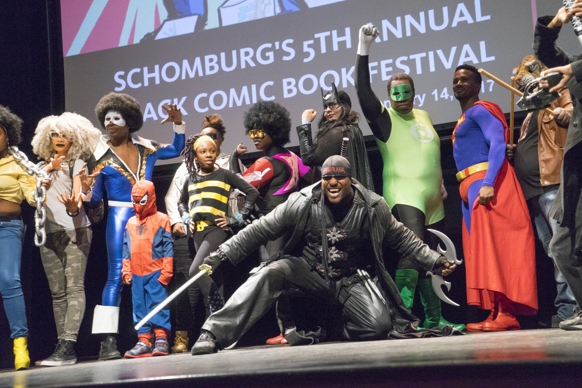 Black-Comic-Book-Festival-at-the-Schomburg-2017-participants-as-comic-book-characters.jpg